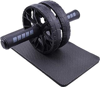 Ab tvåhjulsrulle, bukövningshjul med knämatta, kärnrulle, hjulrulle för män, kvinnor och nybörjare, fitness tillbehör för ...