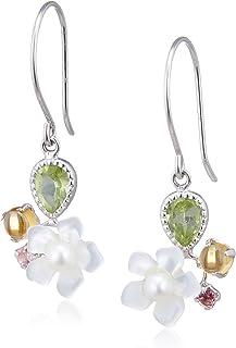[CHIARO DI DIAMANTE] CHIARO DI DIAMANTE K10白金 白贝壳&淡水珍珠&多种颜色 耳环 CHS766