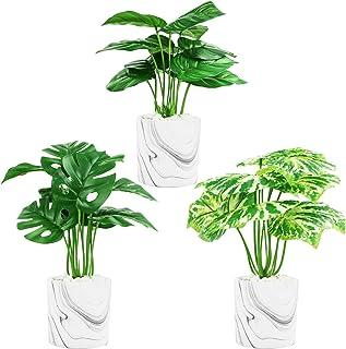 مجموعة النباتات الاصطناعية البسيطة بوعاء النباتات فو النباتات الديكور لغرفة الحمام مكتب مكتب المنزل الديكور