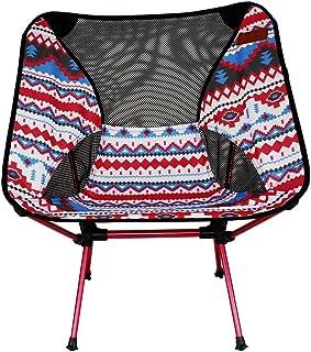 アウトドアチェア 折りたたみ椅子 コンパクト椅子 超軽量 耐荷重150kg 専用ケース付き 簡単に収納 ウルトラライトチェア お釣り 登山 携帯便利 キャンプ バーベキュー (Color : レッド)