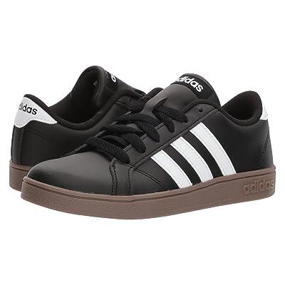 adidas Kids Baseline (Little Kid/Big Kid) (Black/White/Gum) Kids Shoes