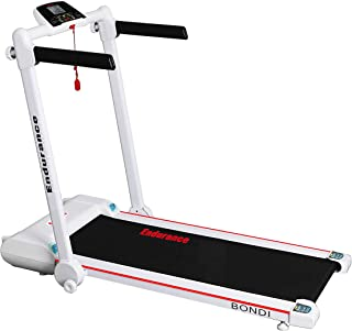 Endurance Bondi Treadmill - Folds Flat Under Bed or Upright in Cupboard.Compact Foldable Running Machine Great for Exercise Fitness in Your Home Gym