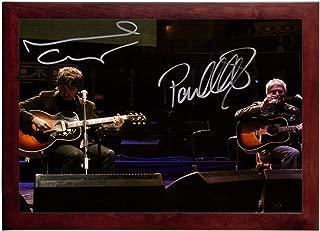 Paul Weller Noel Gallagher Autograph Replica Super Print - Landscape - Framed