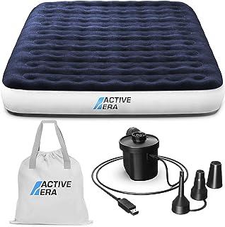 comprar comparacion Active Era Cama de Aire para Acampar Matrimonial con Bomba Recargable USB - con Almohada Integrada, Bolsa de Viaje, Bomba ...