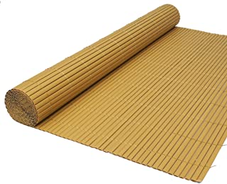 True Products Artificial Bamboo Cane Two Sided Garden Fence