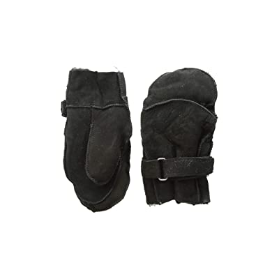 Tundra Boots Kids Sheepskin Mittens (Black) Extreme Cold Weather Gloves