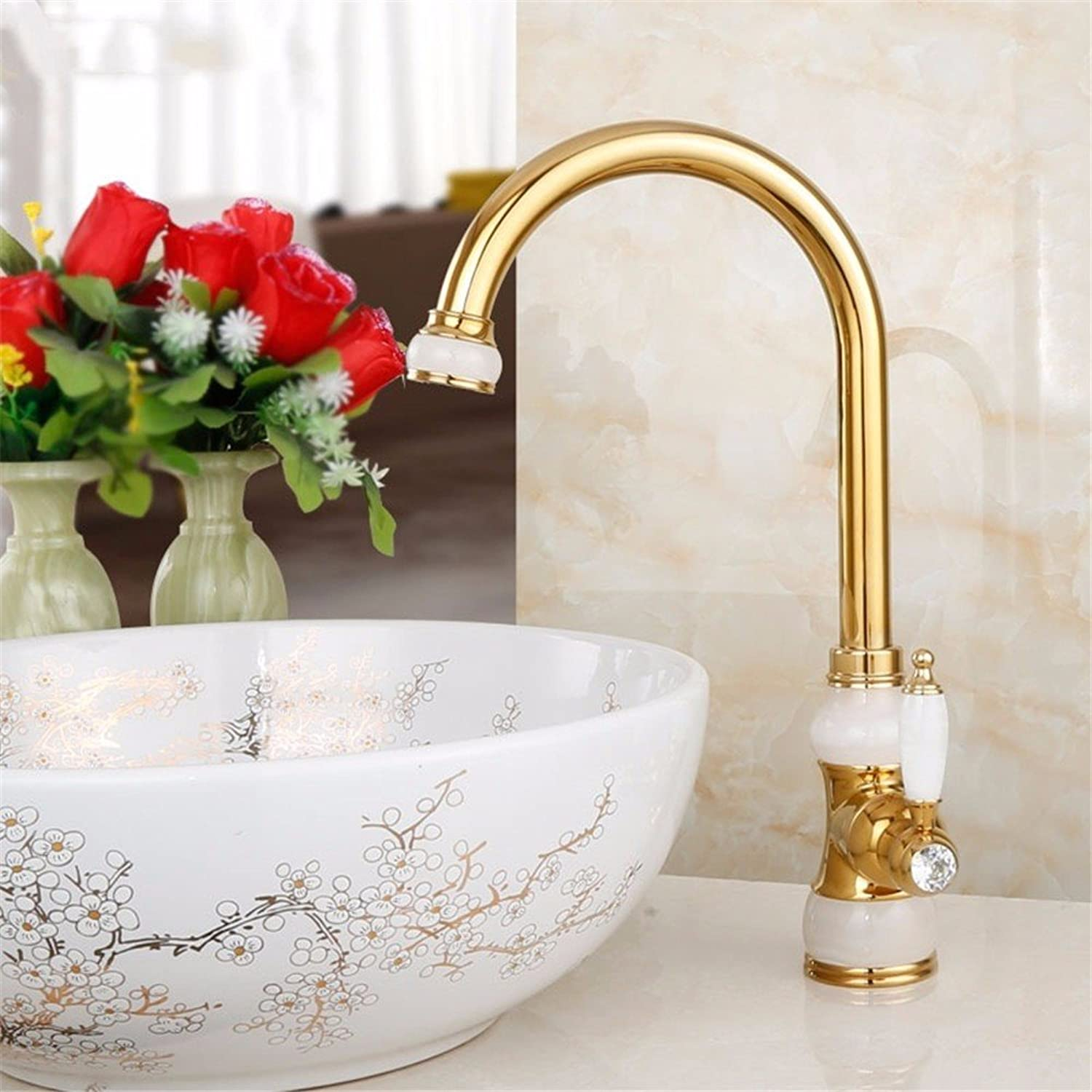 Bijjaladeva Antique Bathroom Sink Vessel Faucet Basin Mixer Tap Natural full copper basin and cold water faucet kitchen faucet can redate the gold antique gold white jade
