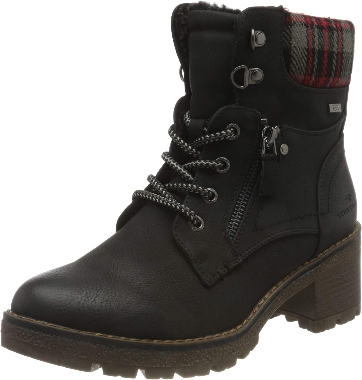 TOM TAILOR Women's 9091602 Mid Calf Boot, Black, 7.5 us