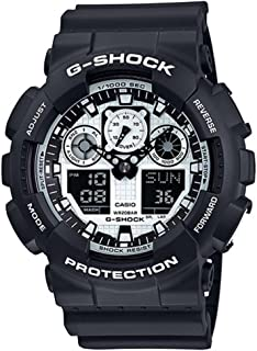 Casio Men's G-Shock GA100BW-1A Black Resin Quartz Watch