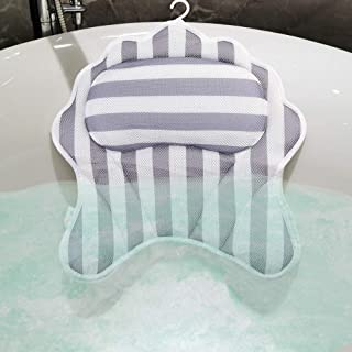 Large Bathtub Pillow 18.11 x 16.92 inches Spa Pillows Upgrade Strong 6 Suction Cups Non Slip Cushion for Head, Neck, Shoulder