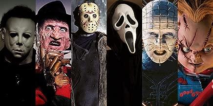 Zzjart HD Printed Oil Paintings Home Wall Decor Art on Canvas, Freddy Vs Jason,Michael Myers Horror Movie 1size#488 (Framed,12x24inch)