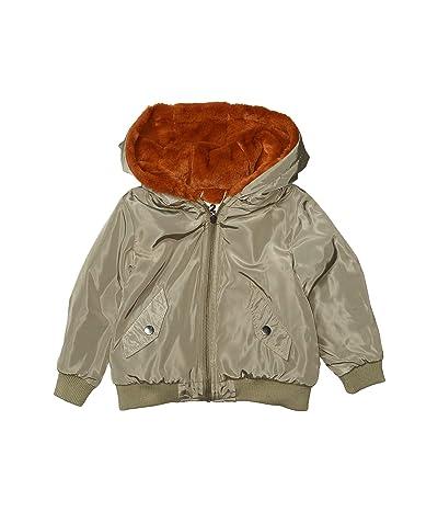 COTTON ON Annie Reversible Bomber Jacket (Little Kids) (Khaki/Amber Brown) Girl