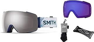 PlayBetter Smith Optics I/O Mag Snow Goggles Bundle | Includes Bright & Low Light ChromaPop Lenses, Retractable Microfiber Towel, Helmet Helper & Goggle Bag