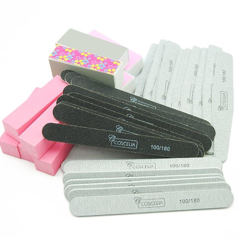 解釈解体する傀儡Twinkle Store 40pcのネイルツール ネイル 爪やすり サンディングファイルセット バッファブロック ネイルの長さと形を整えるのに便利 ネイルツールキット