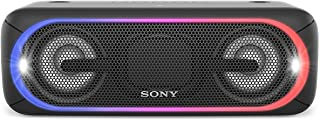 Sony XB40 Portable Wireless Speaker with Bluetooth and Speaker Lights, Black