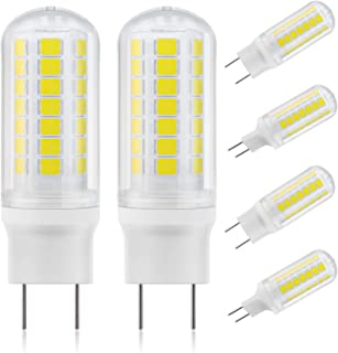 DiCUNO G8 Dimmable LED Bulb Flat Base 4W (40W Halogen Equivalent), Daylight White 5000K, 450LM, Bi Pin Base Bulb Replacement for Under Counter, Under-Cabinet Light and Puck Light, 6 Pack