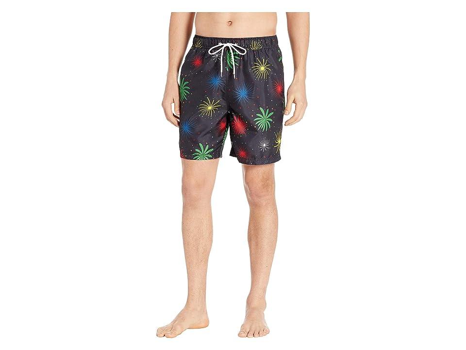 U.S. Surf Club Fire Works Swim Shorts (Black) Men