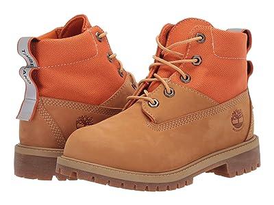 Timberland Kids 6 Waterproof Treadlight Boot (Big Kid) (Wheat/Orange) Boys Shoes
