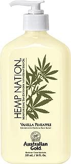 Australian Gold Hemp Nation Moisturizing Tan Extender Lotion, Hemp Seed Oil, Vanilla Pineapple, 18 Ounce
