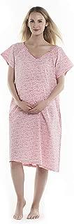 Meinehauz Go Gorgeous - - Multipurpose Labor/Delivery/Nursing Maternity Gown, Hospital Bag Must Have, 100% Cotton