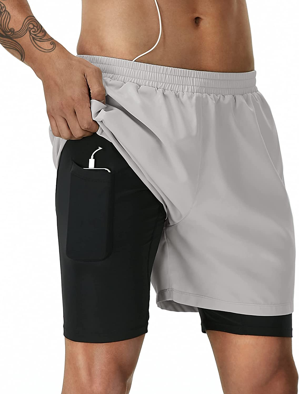 Runhit Running Shorts for Men Gym Workout Shorts Mens Athletic Shorts Pockets