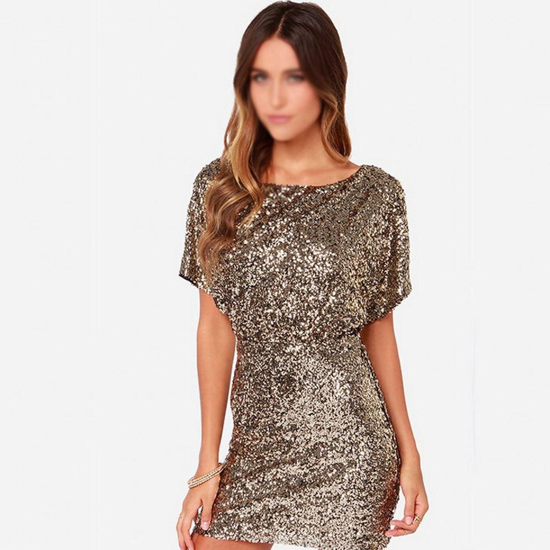 YAN Kleid der Frau Damen Damen Damen Kleid Pailletten Backless Gold Sexy Backless Pailletten Party Kleider Geschenke für Damen B07BK355PW  Für Ihre Wahl b79f5e