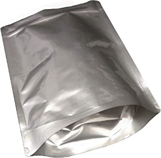 Pleasant Grove Farm 7 Mil Zip Lock Mylar Bags Stand Up Pouch Gusseted Pouch in Multiple Sizes (50, 1 GALLON 10 x 14 inch)
