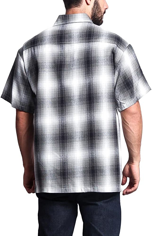 G-Style USA Western Casual Plaid Short Sleeve Button Up Shirt