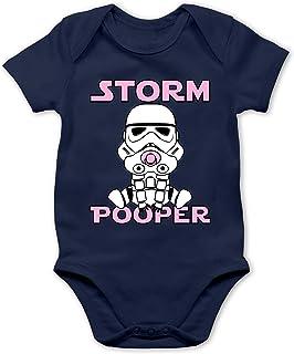 Shirtracer Sprüche Baby - Storm Pooper Mädchen - Baby Body Kurzarm für Jungen und Mädchen