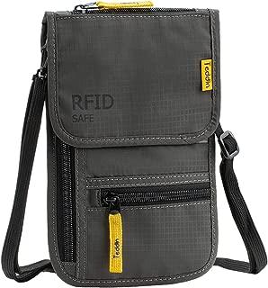 RFID Blocking Stash Neck Wallet, Travel Pouch Passport Holder for Women & Men