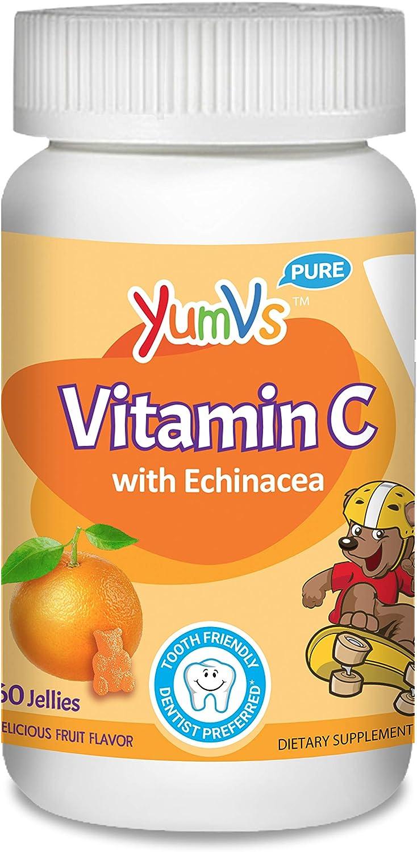 YUM-V's Vitamin Limited time sale C Chewable Jellies Gummies Long Beach Mall Fl Orange Kids for
