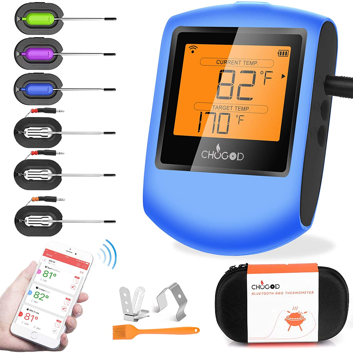 Meat Thermometer Challenge the lowest price Bluetooth - Wire Sale CHUGOD Cooking BBQ