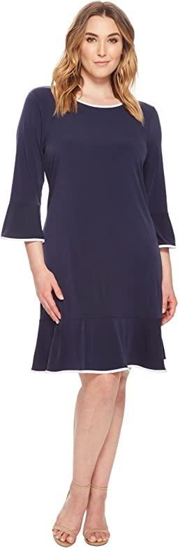 MICHAEL Michael Kors - Plus Size Solid Flounce Dress