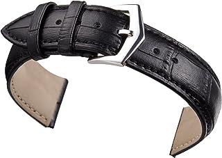 12mm 14mm 16mm 18mm 20mm 22mm 24mm Rouge Bracelet de Montre en Cuir Remplacement Rembourré Alligator Grained Classique Bou...