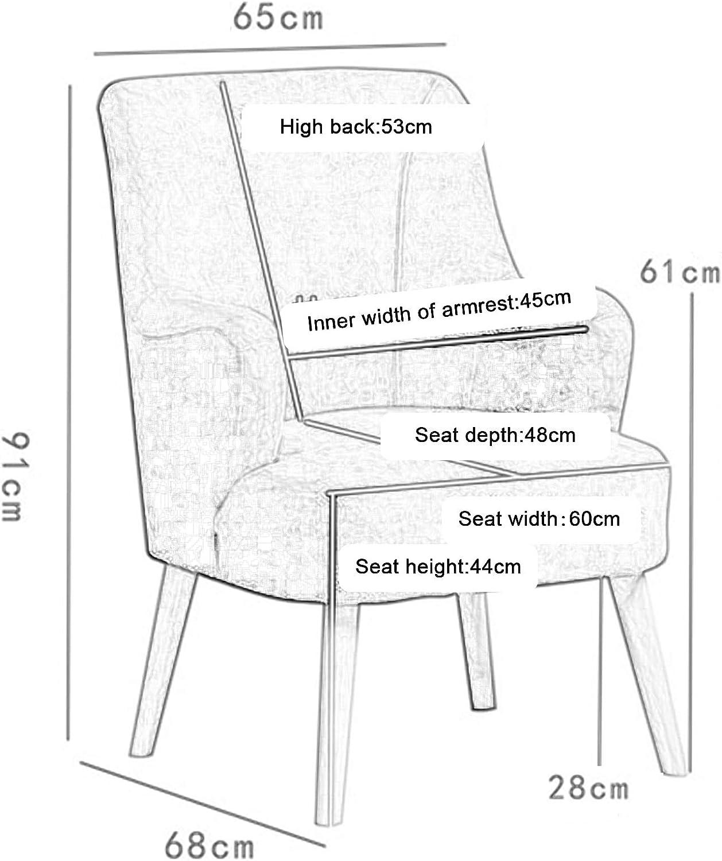Chaise De Canapé Simple, Fauteuil De Loisirs avec Oreiller De Taille comme Cadeau, Chaise en Bois Massif avec Art en Tissu pour Balcon Paresseux 1114S(Color:Vert) Ré