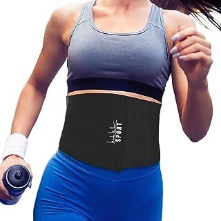 Nicole Miller Waist Trainer for Women Sweat Belt Waist Trimmer Stomach Slimming Body Weight Shaper Wraps Exercise Equipment Adjustable Belt