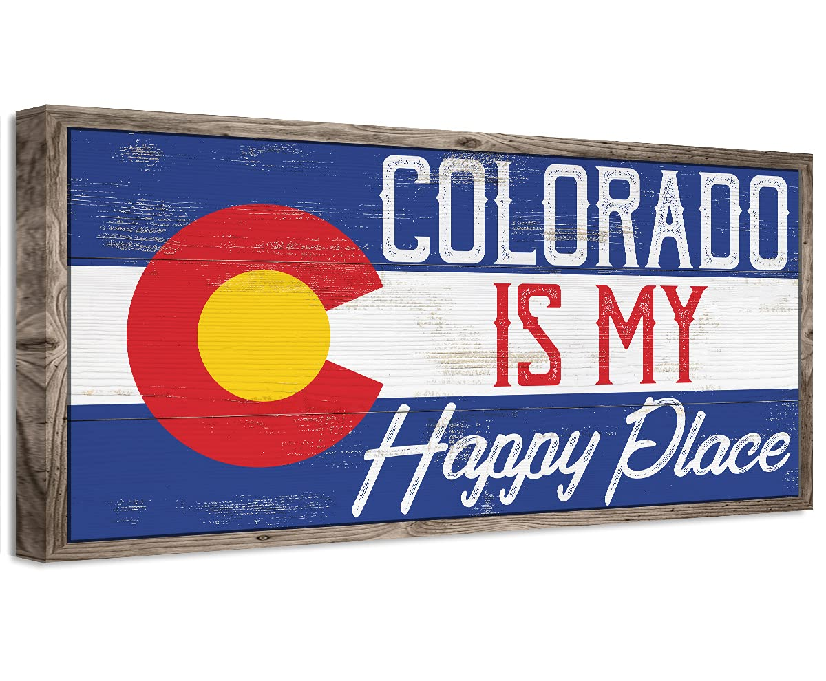 Colorado is My Happy Opening large release sale Al sold out. Place - Great Print Makes Unframed Deco a