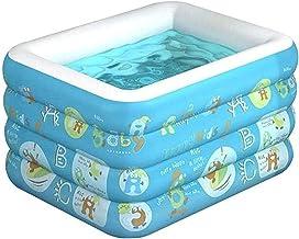 Piscinas WHLONG Hogar Inflable Verano Cuatro Capa Hindeling Pool Pool Baño Aisulado Azul Azul (Color : Blue, Size : 120cm)