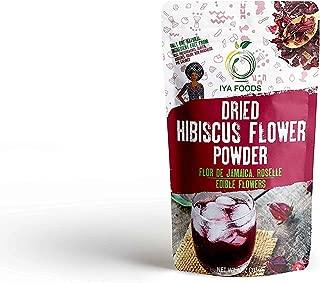 GlutenFree Hibiscus Flower Powder 4 Ounces, Kosher Certified (Hibiscus Sabdariffa Flower Powder,Dry Roselle Powder) Non GMO, No Preservative