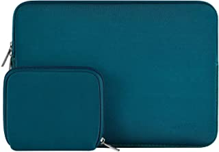 MOSISO Water Repellent Neoprene Sleeve Bag Cover Compatible with 13-13.3 inch Laptop with Small Case, Deep Teal
