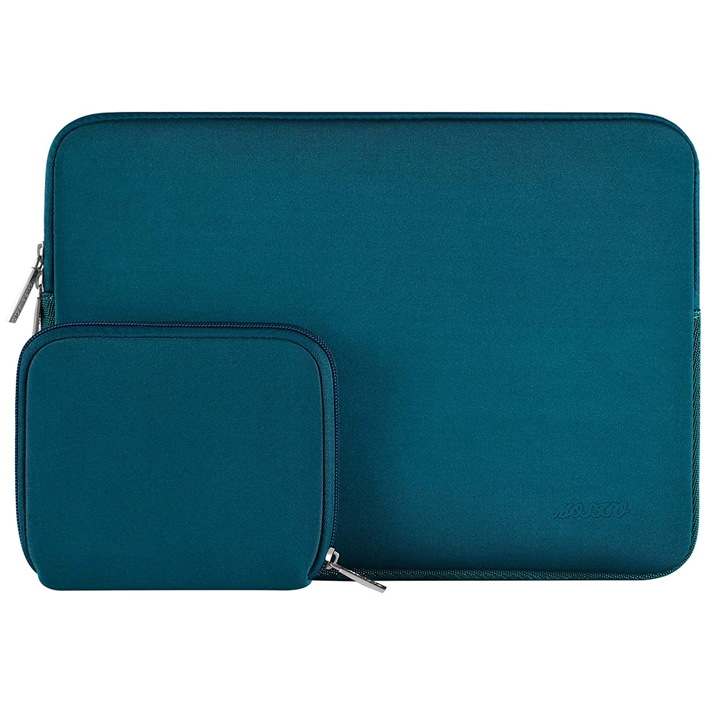 MOSISO Water Repellent Neoprene Sleeve Bag Cover Compatible 13-13.3 Inch Laptop with Small Case, Deep Teal