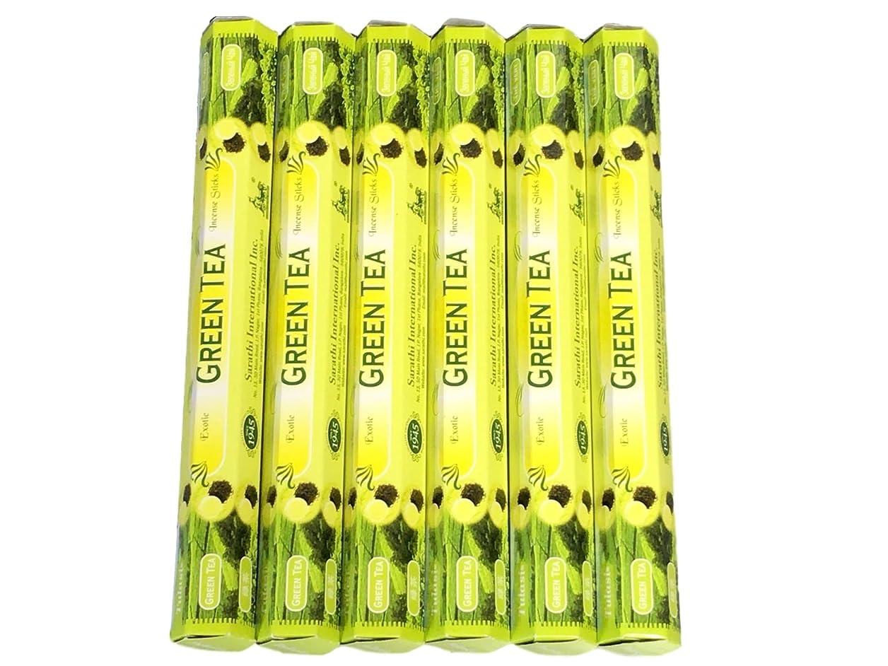 前文地下知覚的Tulasi incense20sticks サラチ?ヘキサインセンススティック20本入り×6ヶセット 640187グリーンティー