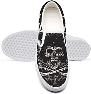 Man's Slayer-Skull-and-Bones-Revised-Soldier-Band-Logo- Boys Sneakers for Mens Comfortable and Lightweight Casual Shoes