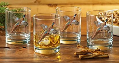 Pheasant Double Old Fashioned Glasses by David A. Maass
