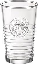 Bormioli Rocco Officina 1825 Water Glass, 11 oz., Set of 6 , 10.25 oz, Clear