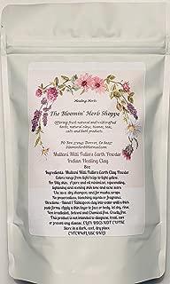 Multani Mitti Fullers Earth Clay Powder | 8oz | Indian Healing Clay |Oily Skin Facial | Masks dry shampoo detox | Pore Oil Minimizer | The Bloomin Herb Shoppe | bulk no additives or preservatives
