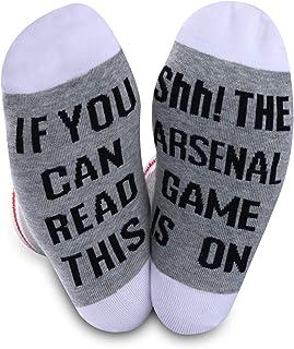 Generic Brands, Calcetines de fútbol del Arsenal, regalo para los fanáticos del Arsenal, regalo si puedes leer esto, el juego del Arsenal está en calcetines de fútbol para hombres y mujeres