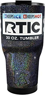 RTIC Stainless Steel 30 oz Black Glitter Tumbler Cup