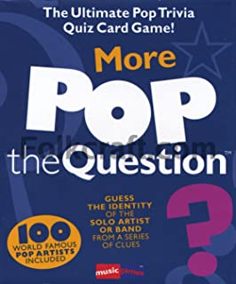 Music Sales More Pop The Question Game - The Ultimate Pop Trivia Quiz Card Game
