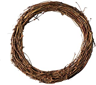 Simoutal Grapevine Wreath DIY Crafts Natural Dried Round Grapevines Wreath Bulk for Decoration, Crafts (10 Inch, 3 Pack)
